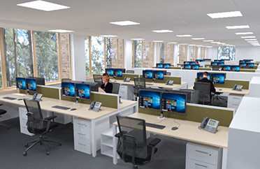 virtual open plan office