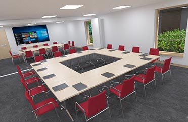 virtual training room