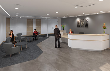 virtual reception area